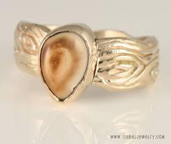 ivory ring 14k yellow gold woodgrain elk ivory ring jewelry