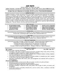sample cosmetology resumes cosmetologist resume example