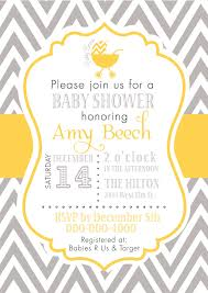 bee baby shower invitations with gray and yellows color using