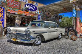 chevy vehicles chevrolet 1958 chevy vehicles classic retro hotel gas station