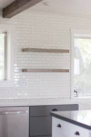 Lowes Wall Shelves by Diy Floating Rustic Shelves Subway Tile U0026 Light Gray Grout