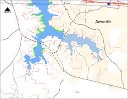 Lake Lanier Map Maps And Zoning Allocations At Allatoona Lake