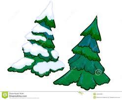 the cartoon illustration of a spruce tree stock illustration