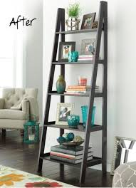 Large Ladder Bookcase Best 25 Corner Ladder Shelf Ideas On Pinterest Ladder Display