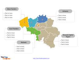 map of begium free belgium powerpoint map free powerpoint templates