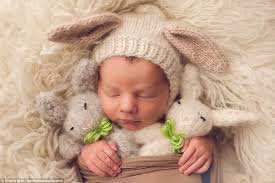 easter pictures with baby newborn babies in easter themed photos daily mail online