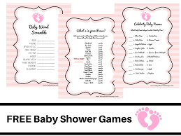 free printable baby shower games word scramble bridal shower