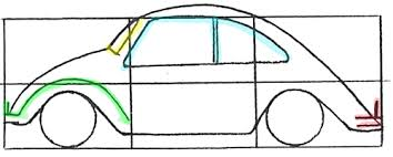 how to draw a volkswagen beetle punch buggy with easy drawing