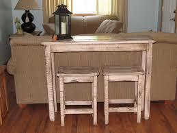 Breakfast Bar Table Barnwood Sofa Table Bar Stool Sets