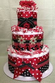 ladybug diaper cake for baby shower centerpiece or new baby gift