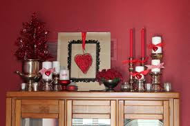 home decor red interior valentine theme living room 2 red candle and brushed