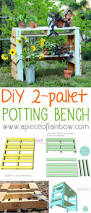 make a two pallet potting bench a piece of rainbow