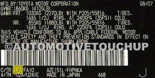 scion paint code locations touch up paint automotivetouchup