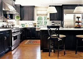 Black Kitchen Cabinet Ideas by Brown Walnut Portable Island With Granite Top White Kitchen