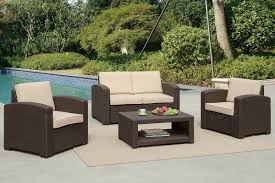 Outdoor Patio Furniture Reviews Poundex Lizkona 434 4 Pcs Outdoor Patio Sofa Set