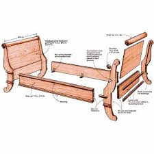 new twist on a sleigh bed finewoodworking