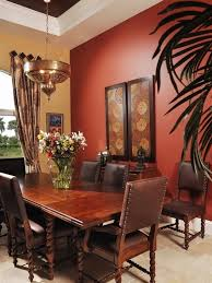 Red Accent Wall by Red Accent Wall With Dark Finished Mahogany Furniture Set For