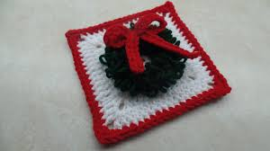 crochet how to crochet christmas wreath granny square tutorial