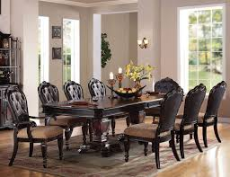 acme furniture le havre double pedestal table dining room set