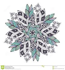 mandala vector in floral style zentangle for coloring book pages