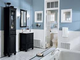 white and blue bathroom neutral blue white bathroom design with black vanities home depot