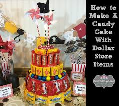 candy cake how to tutorial for dollar store craft