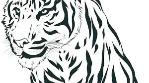coloring page tigers tigers coloring pages standing tiger coloring page daniel tiger