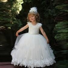 wholesale first communion dress for girls long cheap flower girls