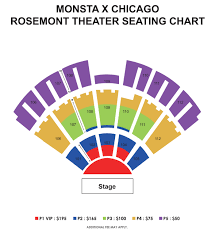 Chicago Theater Map by Powerhouse Monsta X Us Tour Chicago