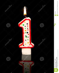 1st birthday candle 1st birthday stock image image of light birthday 675769