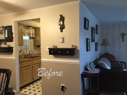 kitchen galley remodel to open concept trash cans food storage