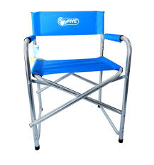 Directors Folding Chair Aluminium Directors Folding Chair With Arms Camping Garden Black