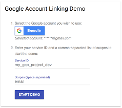 implementing account linking actions on google google developers