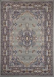 Silver Grey Rug Traditional Oriental Medallion Area Rug Persian Style Carpet