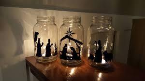 vinyl nativity scene mason jar nativity christmas nativity