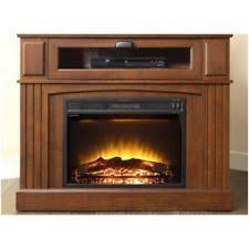 Electric Fireplace With Storage by Media Fireplace Brown Tv Stand Electric Heater Flame 1500w Corner