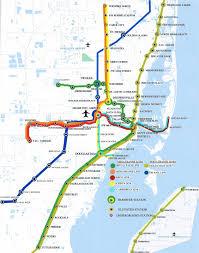 Metrorail Map Miami Subway Map My Blog