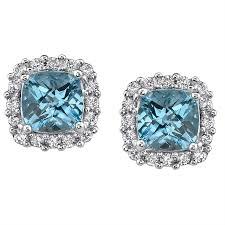 stud earrings for women 2 jewelry women blue topaz stud earrings 2014 adworks pk