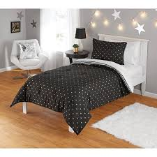 Gold And Black Comforter Set Your Zone Gold Hearts Comforter Set Walmart Com