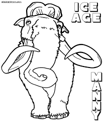 ice age coloring pages coloring pages to download and print