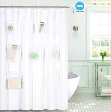 goodgram fabric shower curtain liners with mesh pockets assorted