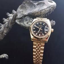 gold rolex oyster bracelet images New gold rolex datejust with black face gold jubilee bracelet JPG