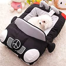 small pet beds amazon com kojima design new deluxe cute cozy black car pet beds