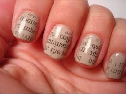 nail designs spot newspaper nails