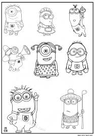 minions free coloring pages kids 01 doodles cards