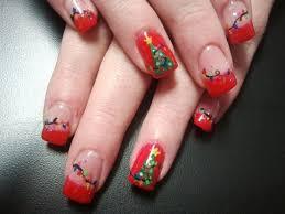 15 bright christmas tree nail art designs
