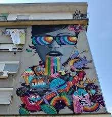 psychedelic mural novi sad serbia graffiti psychedelic mural novi sad