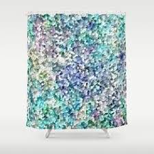 Plum Colored Bathroom Accessories by Abstract Shower Curtain Purple Cream And Green Shower Curtain