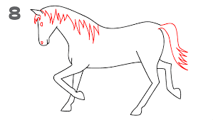 coloring amusing draw horse learn drawing