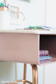 vintage kids desk turned pink crafting goodness kid desk